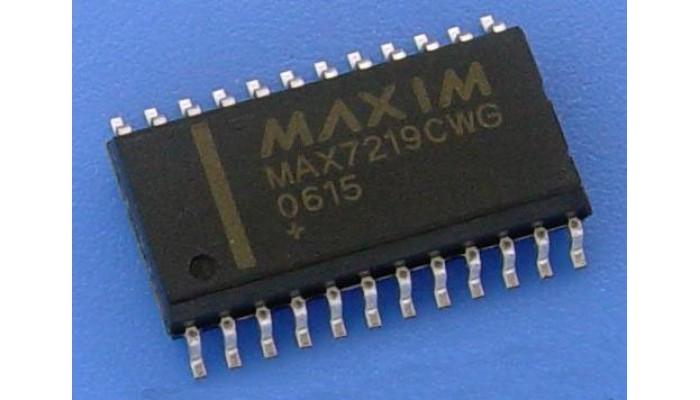MAX7219CWG 8-Digit LED Display Drivers (SOP-24)
