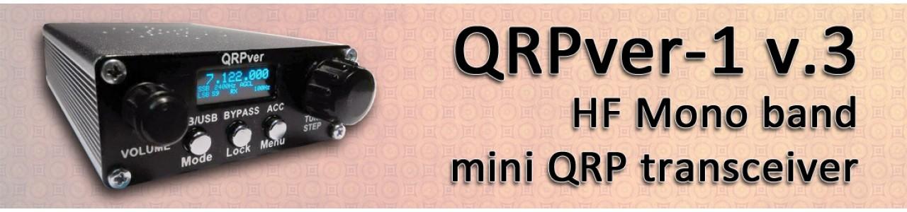 QRPver-1 v.3 HF Mono band mini QRP transceiver